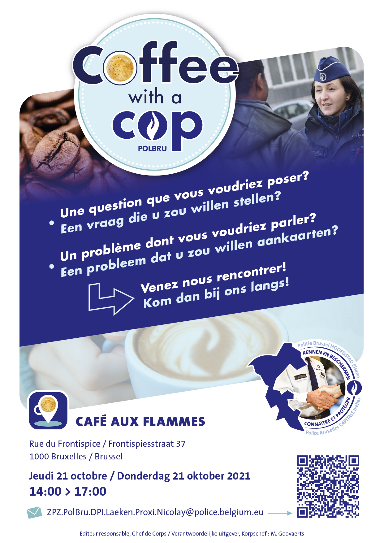 Coffee with a cop - 21-10 Aux Flammes